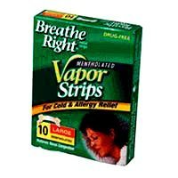 (Breathe Right Nasal Strips, for Colds, with Vicks Mentholated Vapors, Large 10 ea)
