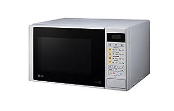 LG MH6042DS - Horno microondas con grill, color: plateado (potencia: 700 W
