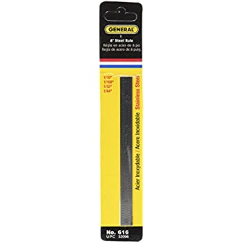 General Tools 616 Flexible Industrial Straight Edge Ruler, Stainless Steel
