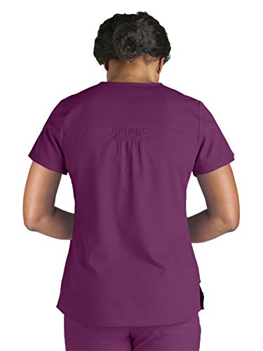 Grey's Anatomy 71166 V-Neck Top Currant L by Barco (Image #2)