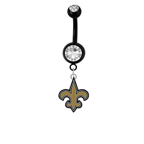 (Final Touch Gifts New Orleans Saints Belly Ring)