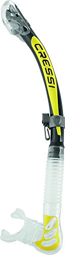 Cressi Alpha Ultra Dry snorkel (clear/yellow)