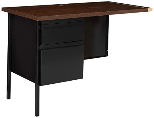 Lorell Single Left Pedestal Desk, 42 by 24 by 29-1/2-Inch, Black -