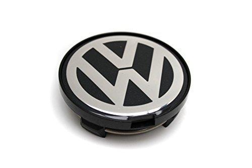 Genuine 15 16 Alloy Wheel Center Hub Chrome Black Cap 1pcs VW Passat B5.5 01-
