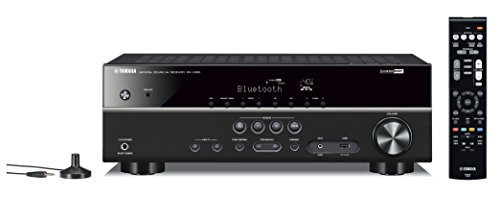 Yamaha RX-V383BL 5.1-Channel 4K Ultra HD AV Receiver with Bluetooth (Home Amplifiers Theater)