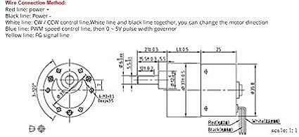 Taille : 12V 4RPM 1pc 37mm Diam/ètre Bo/îte /à Faible Bruit Longue dur/ée de Vie de Couple /élev/é 12v 24v Vitesse brushless DC Moteur Silencieux BLDC Motor/éducteur F-MINGNIAN-TOOL