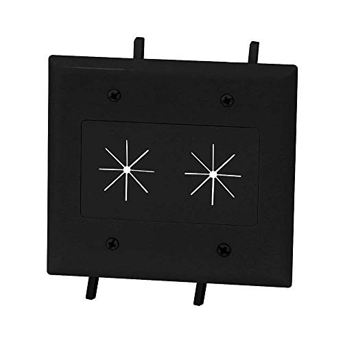 DataComm Electronics 45-0015-BK Cable Plate with Flexible Op