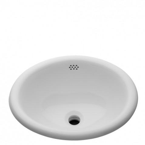 Waterworks Manchester Drop In Oval Vitreous China Bathroom Sink in Cool White 20 1/2'' x 17'' x 8 1/4'' by Water Works (Image #3)
