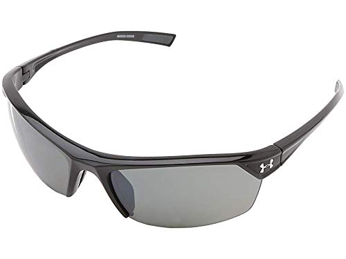 Under Armour Zone 2.0 Shiny Black Frame, with Charcoal Gray Rubber, and Gray Polarized Multiflection ()