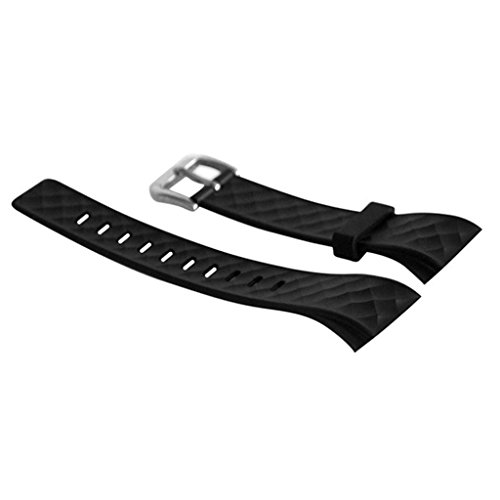 Misright 3 Color Available Silicone Replacement Band Fitness Wrist Strap for S2 Bluetooth Smart Bracelet (Black)