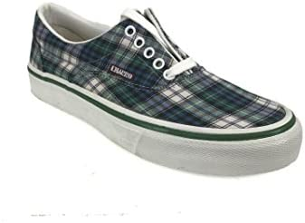 El Charro Vintage Canvas Sneakers Tartan Green 44