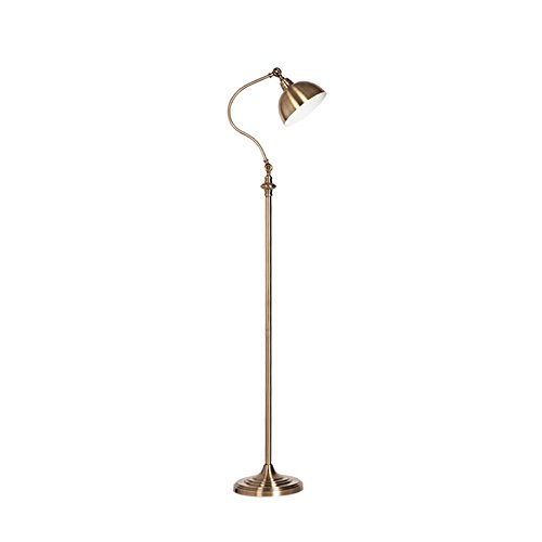 Vintage Iron Floor Lamps, Adjustable LED Antique Copper Decorative Standing Lamp Nordic Living Room Bedroom Hotel Bedside Floor Table Light (Color : C)