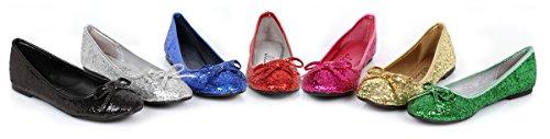 Ellie 016-mila-g Kvinna Bekväm Mode Vuxen Glitter Platt Med Rosett Fuchsia W / Glitter