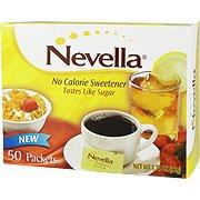 L'édulcorant sans calorie - le goût du sucre, 50 paquets, (Nevella)