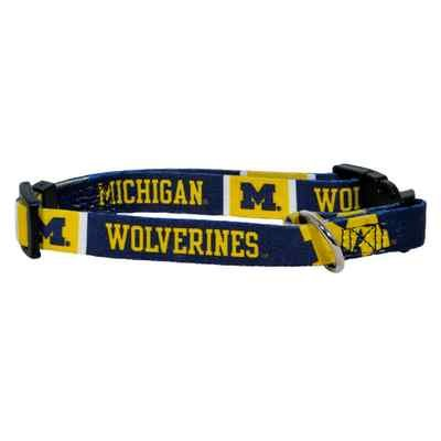 Michigan University Wolverines Adjustable Pet Dog Collar All Sizes (XS)