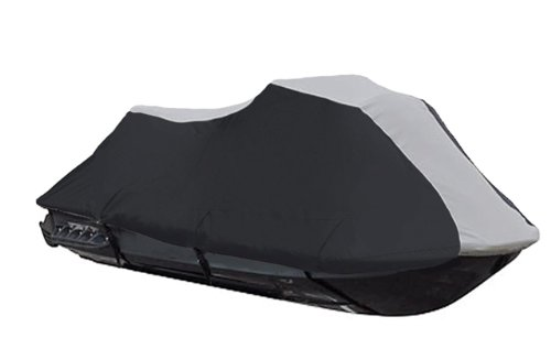 SBU-BUD 600 Denier Jet Ski PWC Cover fits Honda Aquatrax R-12X / ARX1200T 2003-2007 Black/Grey Custom Fit Cover Ski