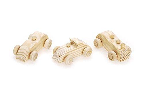 Darice 9180-30 Wooden Race Cars, Mini Mini Wooden Cars