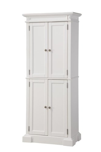 Home Styles 5004-692 Americana Pantry Storage Cabinet, White Finish