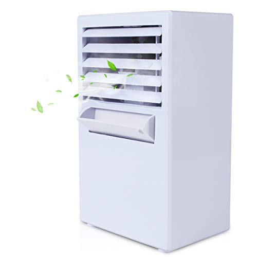 Vshow Personal Air Cooler, Mini Air Conditioner, Portable Air Cooler,Cold Air Fan| Misting Bladeless Quiet Cooling Desk Fan - Upgrade Version - Electric Room Cooler