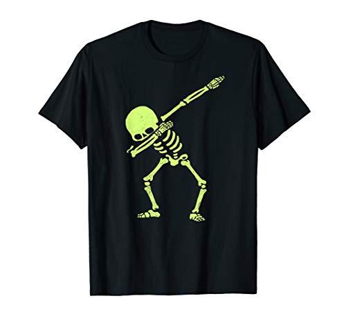 Dabbing Skeleton Shirt Dab Hip Hop Skull Dabbin Glow Effect]()