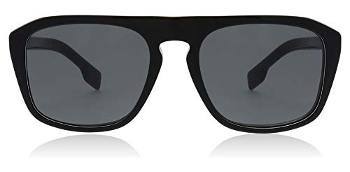 Burberry Men's 0BE4286-sunglasses, Black Multilayer Check/Grey, One Size (Burberry Farbe)