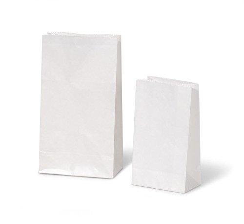 DARICE 40 Piece Kraft Paper Sack, White