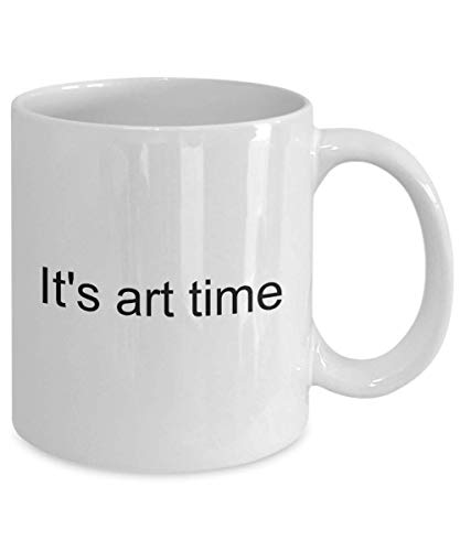 I Arted Mug It's Art Time Artistic Travel Makeup Artist Women Tattoo Graphic Funny Starving Of Shaving Coffee Cup