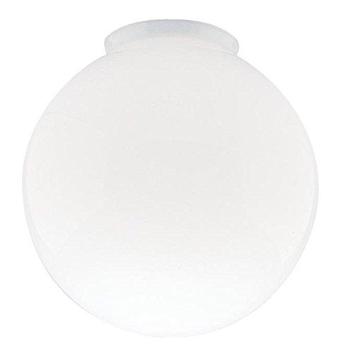 6-Inch White Glass Globe - 3-1/4-Inch Fitter (Center Glass Globe)