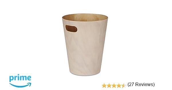 Umbra 082780-668 - Papelera de madera, color beige