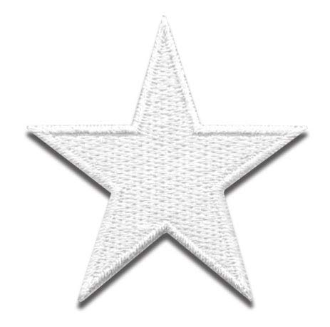 Iron On Patches - White Star Patch 10 pcs Iron On Patch Embroidered Applique Star S-6 (1.96 x 1.96 inches) ()