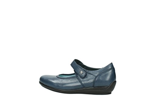 Wolky 00385 Blue 30800 Leather nbsp;noble Janes Mary Confort rtz6nqwTxr