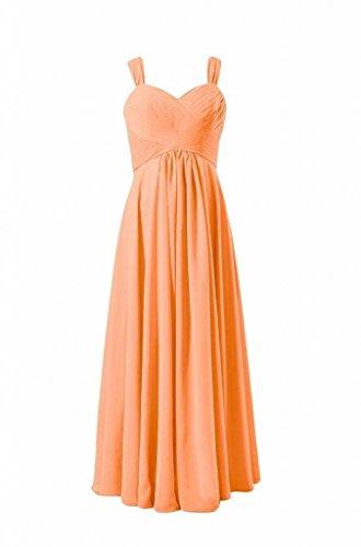 Daisyformals Femmes Chérie Robe De Soirée Robes De Demoiselle D'honneur En Mousseline De Soie Longue (bm313) N ° 22 Orange