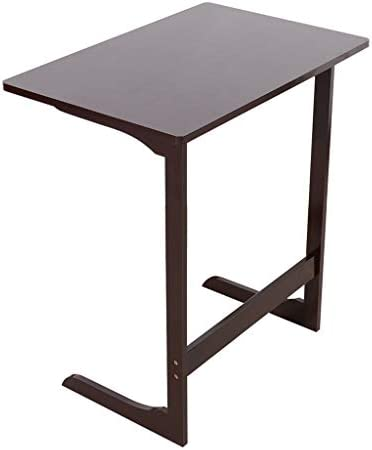 Sofa Table End Table TV Tray Z-Shape Bamboo Snack Laptop Desk Night Stand Couch Side Table Moveable Stand in Living Room for Eating Working Writing Home Office Furniture Coffee L-Shaped
