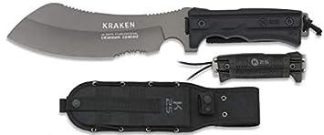 K25 Cuchillo Modelo Kraken de Acero INOX y Titanio. Mango ...
