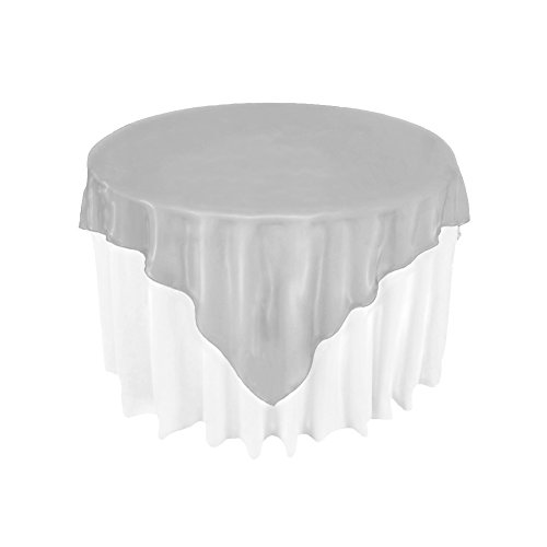 """AerWo Organza Table Overlay Tablecloth 72"""" Square Wedding for sale  Delivered anywhere in Canada"""