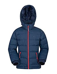 Mountain Warehouse Frost Youth Down Padded Winter Jacket - Warm Petrol Blue 5-6 years