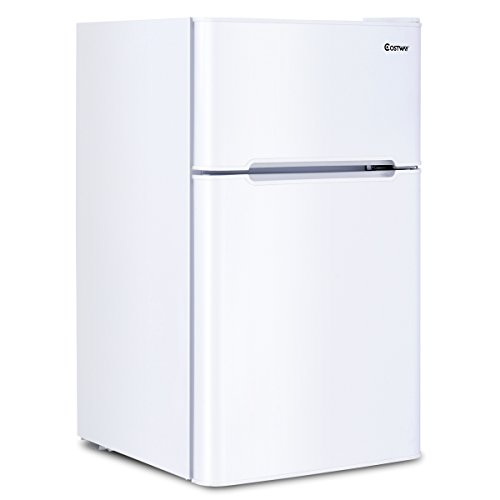 Costway 2 Door Compact Refrigerator Freezer