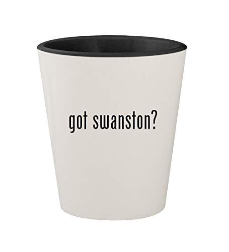 got swanston? - Ceramic White Outer & Black Inner 1.5oz Shot Glass
