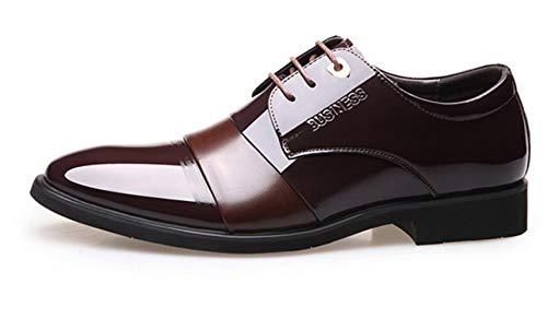 Hochzeitsschuhe Shiney 2018 Männer Farbe Business Wies Kleid Leder Britische Brown rBqnrd86w