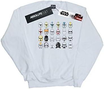 Star Wars Herren Trooper Helmets Sweatshirt Weiß XXX-Large