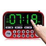 Radiocommunication Alert Time - Portable Speaker Outdoor Dancing Card Usb Radio Music Surround Mp3 Player Button Luminou Alarm Clock - Tuner Receiver Consternation Alarum Wireless - 1PCs