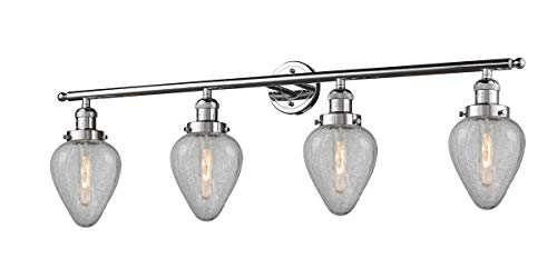 Bathroom Vanity 4 Light Fixtures with Polished Chrome Finish Cast Brass Glass Material Medium 43