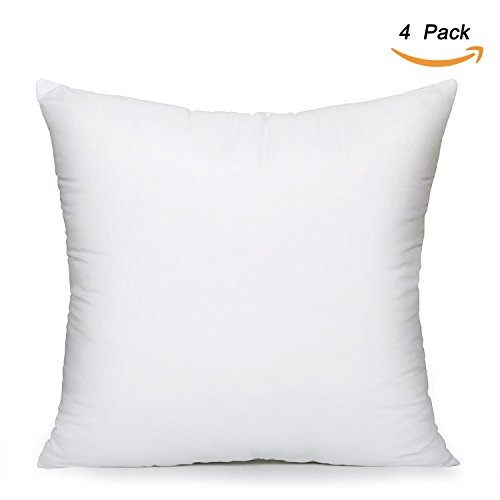EVERMARKET Square Poly Pillow Insert, 18