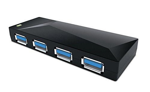 NEXiLUX NXL-P4108 Universal USB 3.0 Hub for PlayStation 4 PS4/Xbox One/Wii U/Xbox 360/PlayStation, 3 (PS3)/PC/Laptops