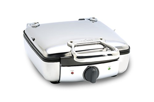 All Clad 2100046968 99010gt Stainless Steel Belgian Waffle Maker With 7 Browning Settings 4 Square Silver