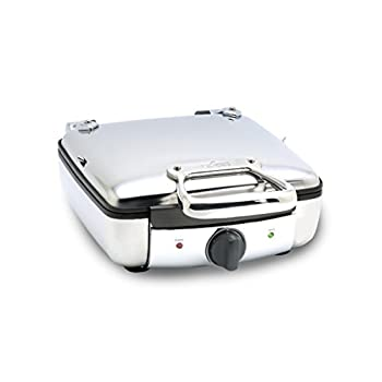 Image of All-Clad 2100046968 99010GT Stainless Steel Belgian Waffle Maker with 7 Browning Settings, 4-Square, Silver Home and Kitchen