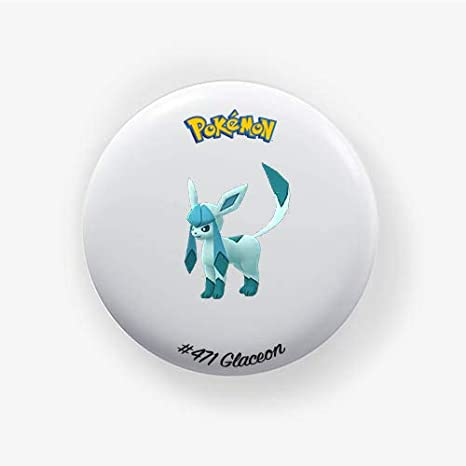 Pokemon Go 38mm Pinback Button Badge 1.50 Inch Glaceon #471