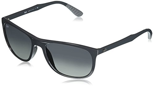Ray-Ban Mens Injected Man Square Sunglasses, Grey, 58 mm