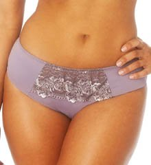Creme Bralee Colette Embroidered Micro Hipster Boyshort Panty (12319BL) M/Mauve
