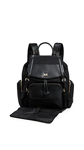 MICHAEL Michael Kors Women's Mott Diaper Bag Backpack, Black, One Size